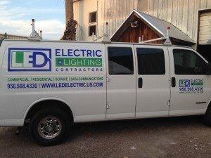 LED Electric & Lighting Contractors Van