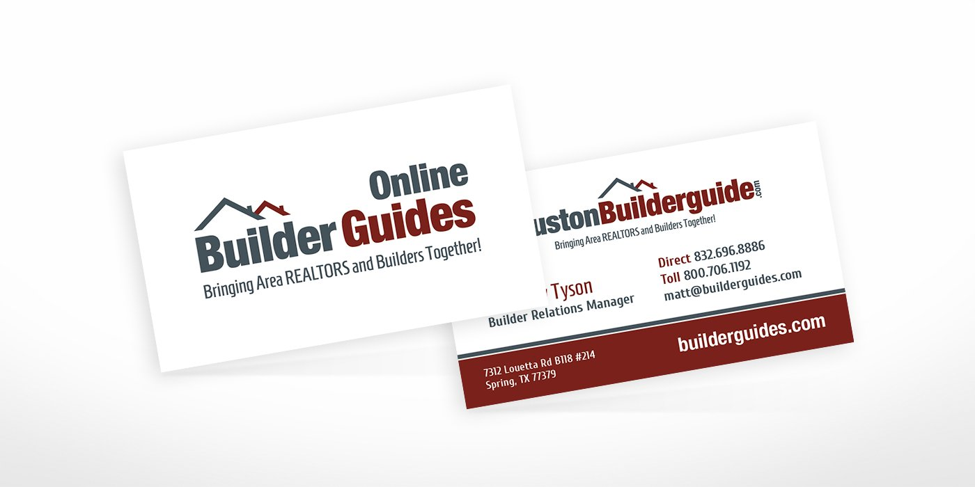 Online Builder Guides Business Cards • BlackStone Studio