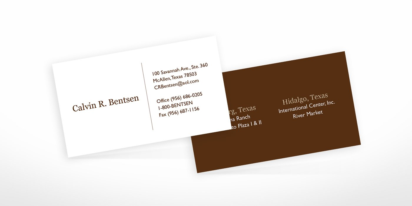 Business Card Design Work Samples • BlackStone Studio