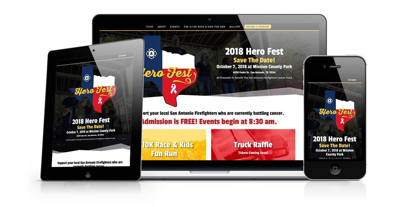 Hero Fest Website Design