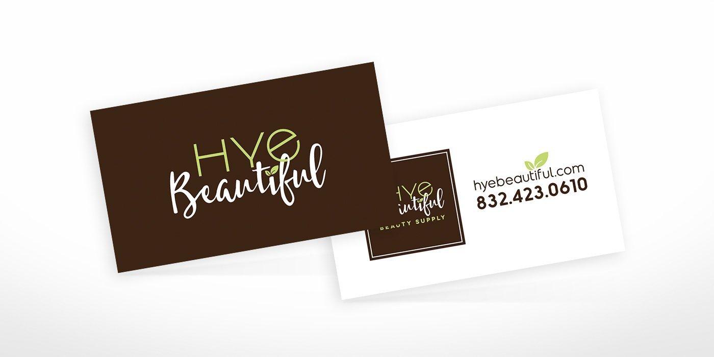 Hye Beautiful Business Cards • BlackStone Studio