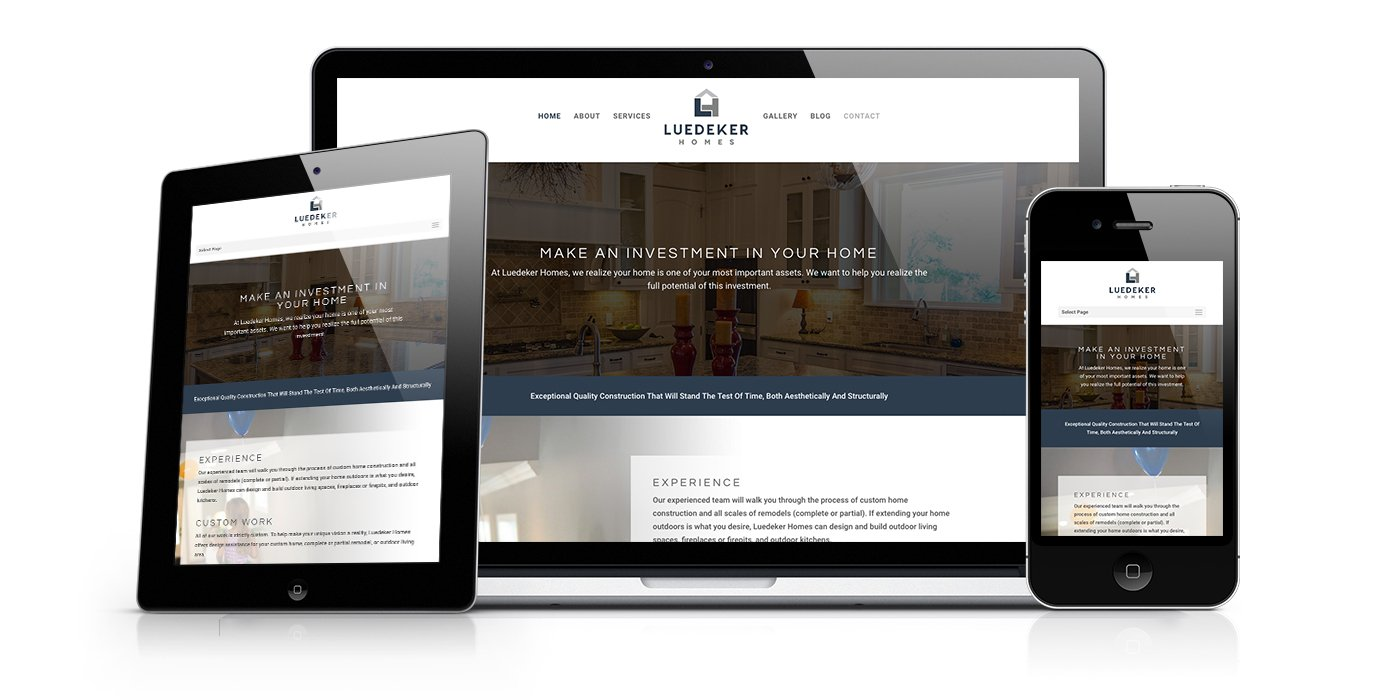 Luedeker Homes Website