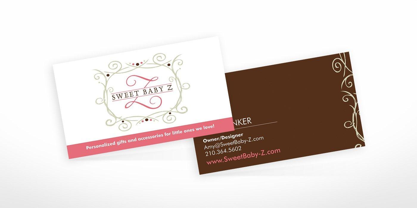 Sweet Baby Z Business Cards • BlackStone Studio