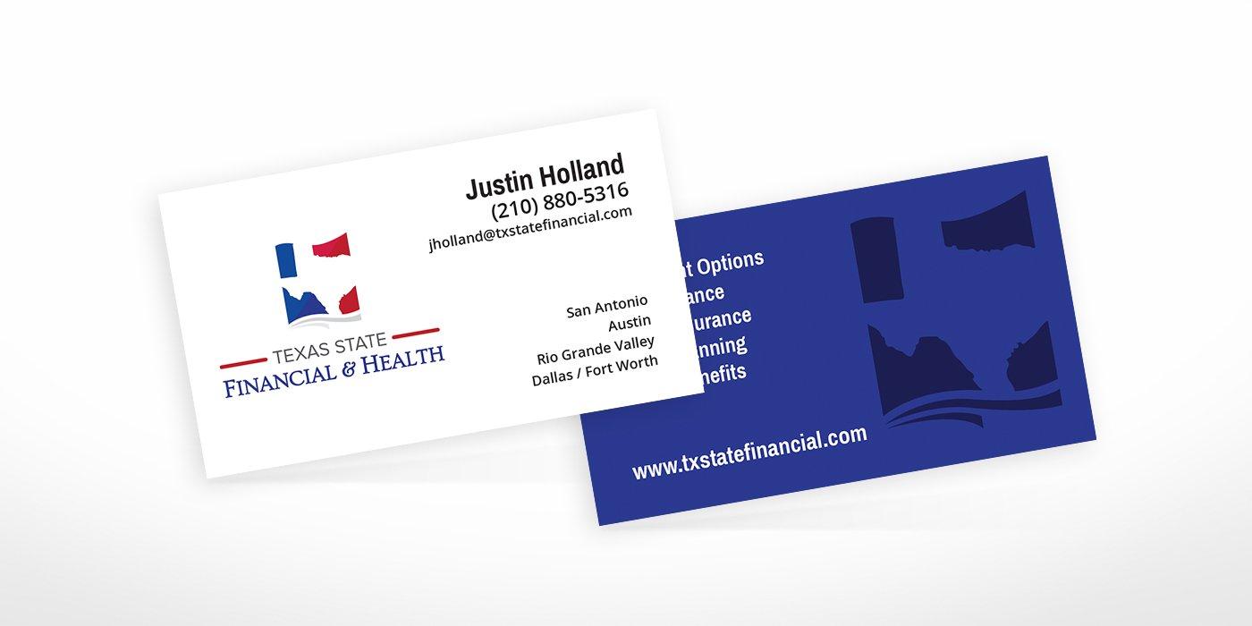 Texas State Financial Health Business Cards • BlackStone Studio