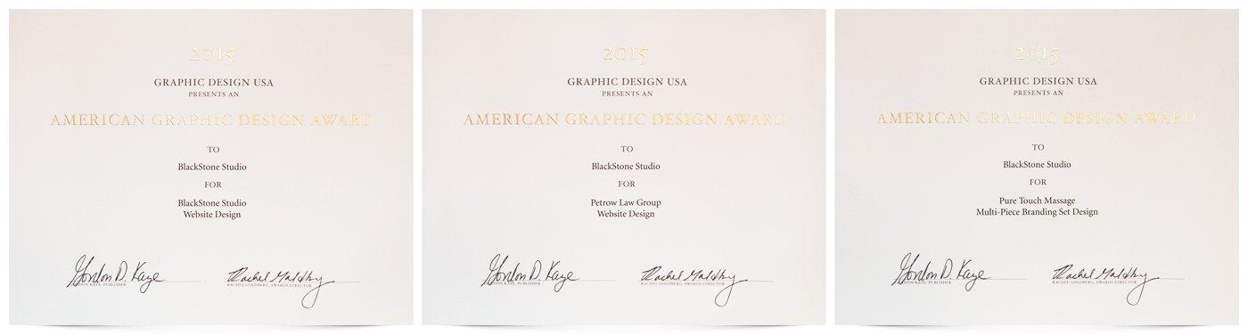 GDUSA 2015 Certificates