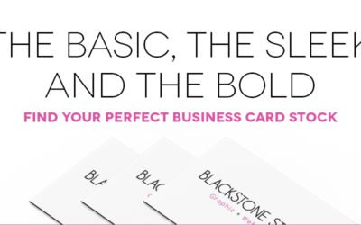 The basic, the sleek and the bold! Find your perfect business card stock.