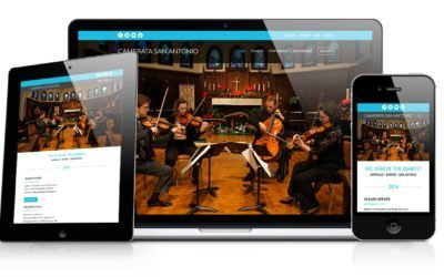 Camerata San Antonio Website Design