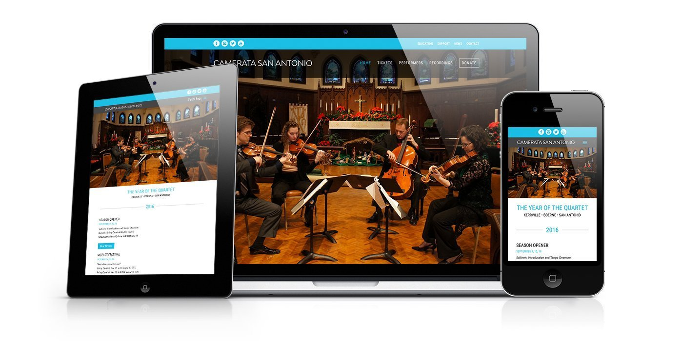 Camerata San Antonio Website