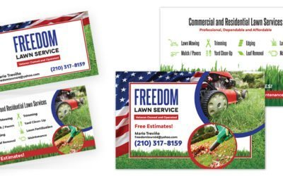 Freedom Lawn Service Business Cards and Flyers