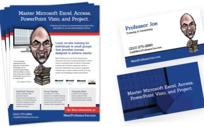 Professor Joe Business Cards and Flyers