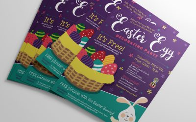 Easter Egg Decorating Party Flyer