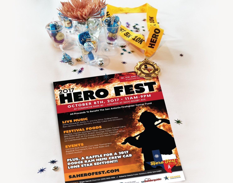 2017 hero fest flyer design blackstone studio