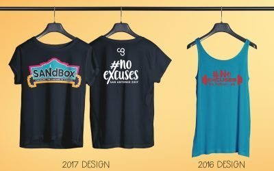 SANdBox #NoExcuses T-Shirt Design