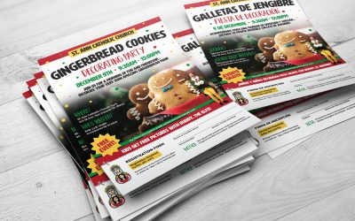 Gingerbread Cookies Decorating Party Flyer Design