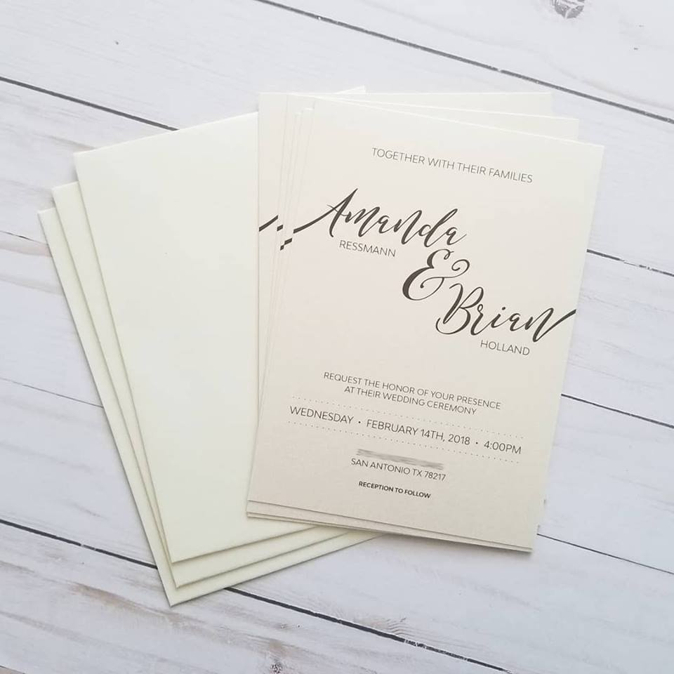 Amanda and Brian Invitation