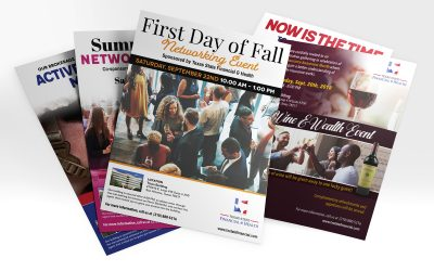 Event Flyers for Texas State Financial & Health