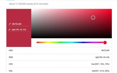 Google Color Picker Tool