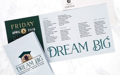 Dream Big Invitation Design