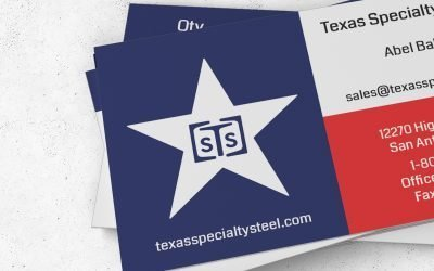 Texas Specialty Steel Business Card Design & Print