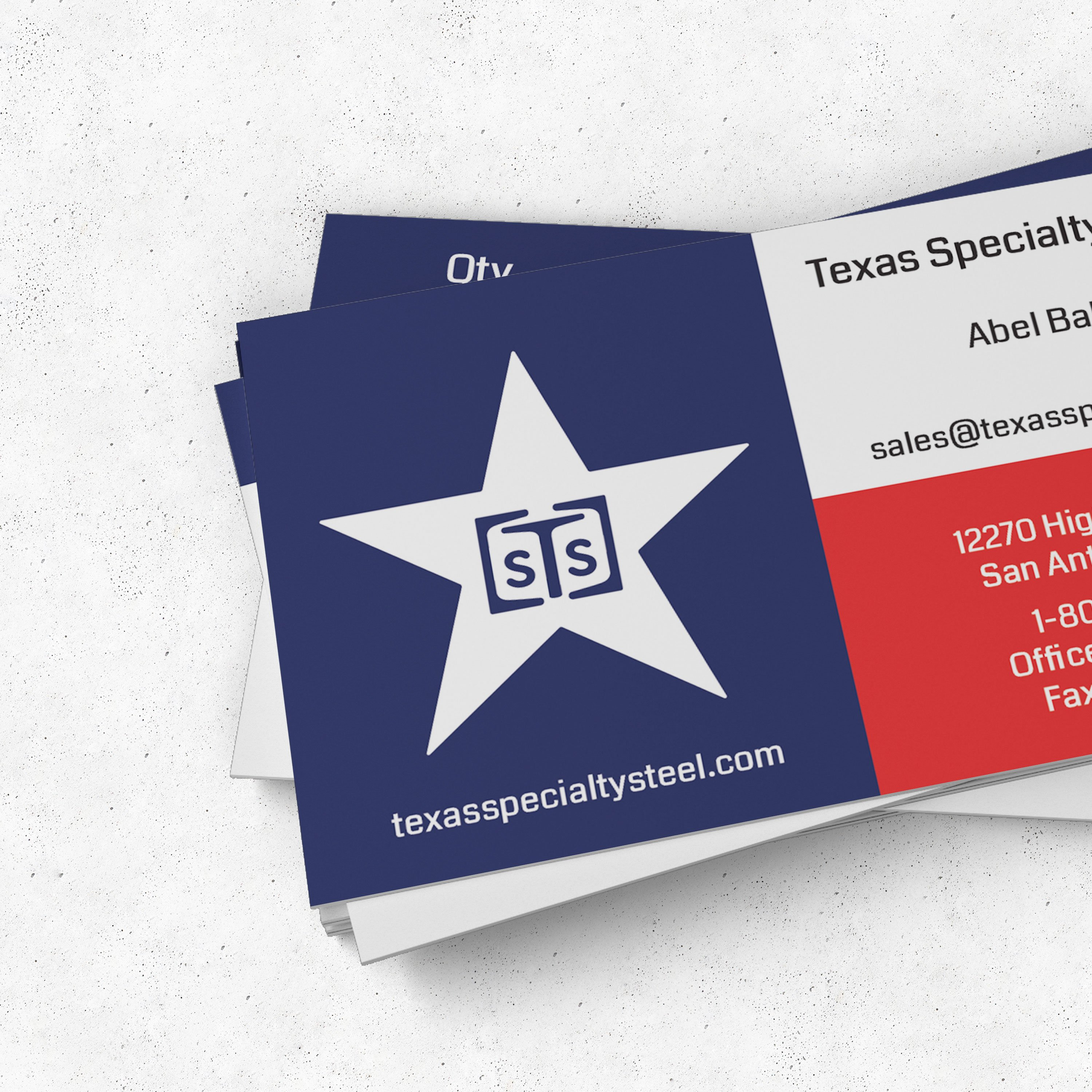 Texas Specialty Steel Business Cards