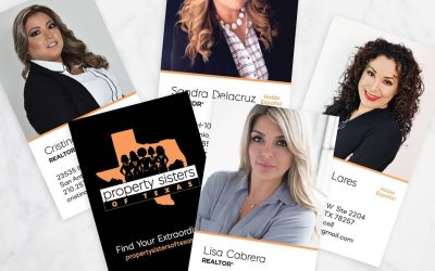 Property Sisters of Texas Business Card Design
