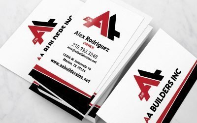 AA Builders Inc Business Card Design