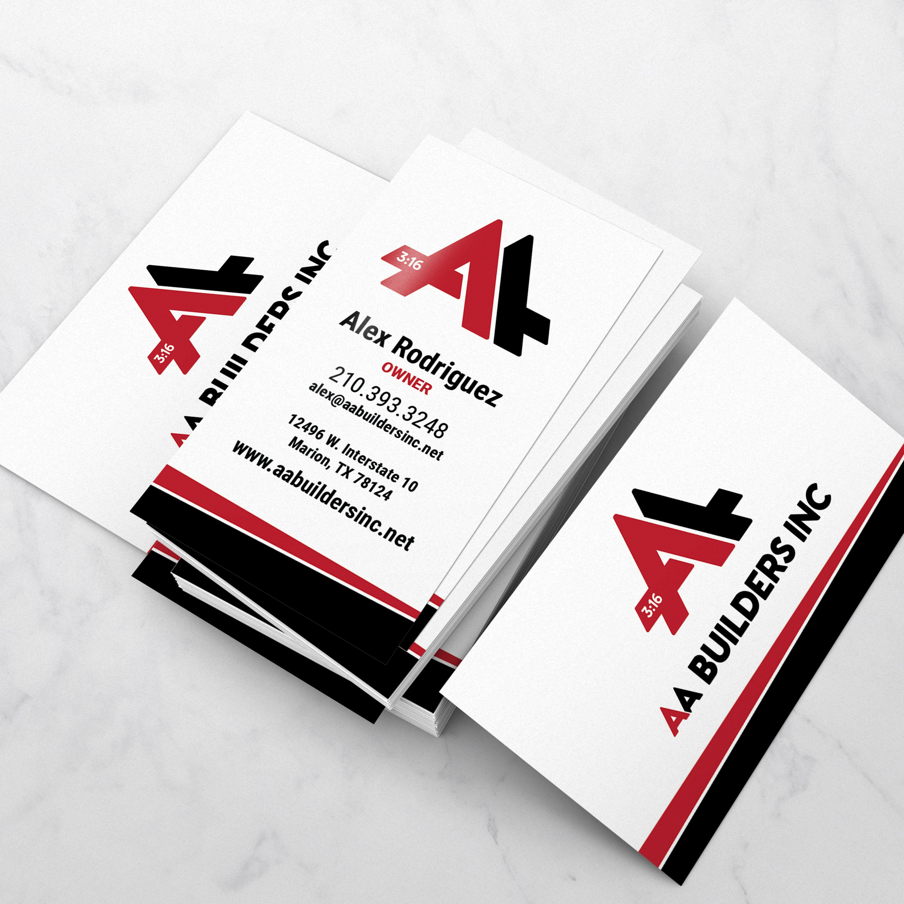 AA Builders Business Cards