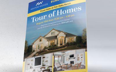 Ashton Woods Tour of Homes Flyer Design