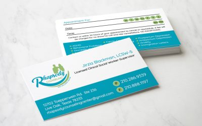 Rhapsody Counseling and Wellness Center Business Cards