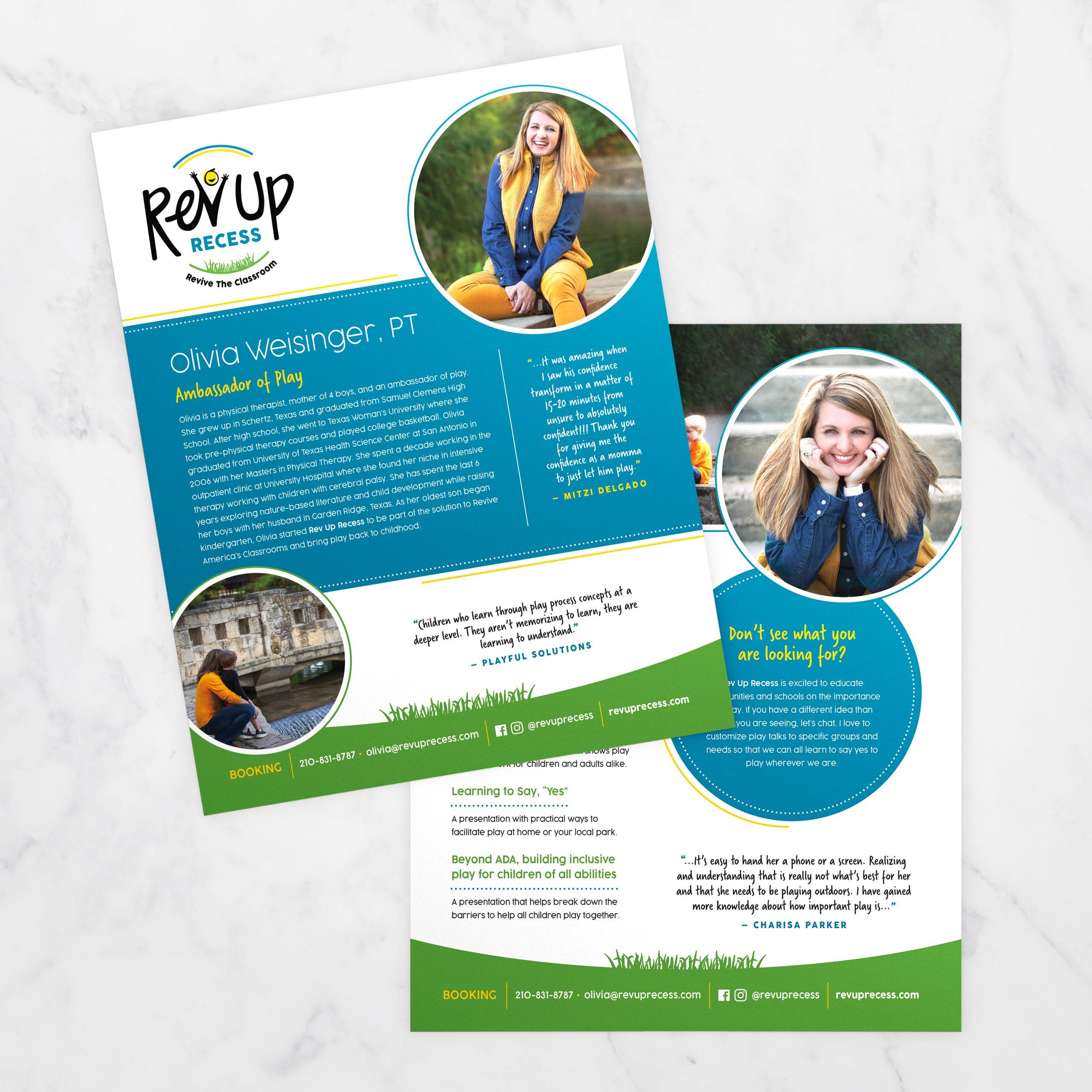 Rev Up Recess Speaker One Sheet