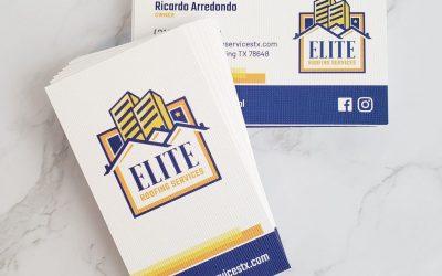 Elite Roofing Services Business Card Design